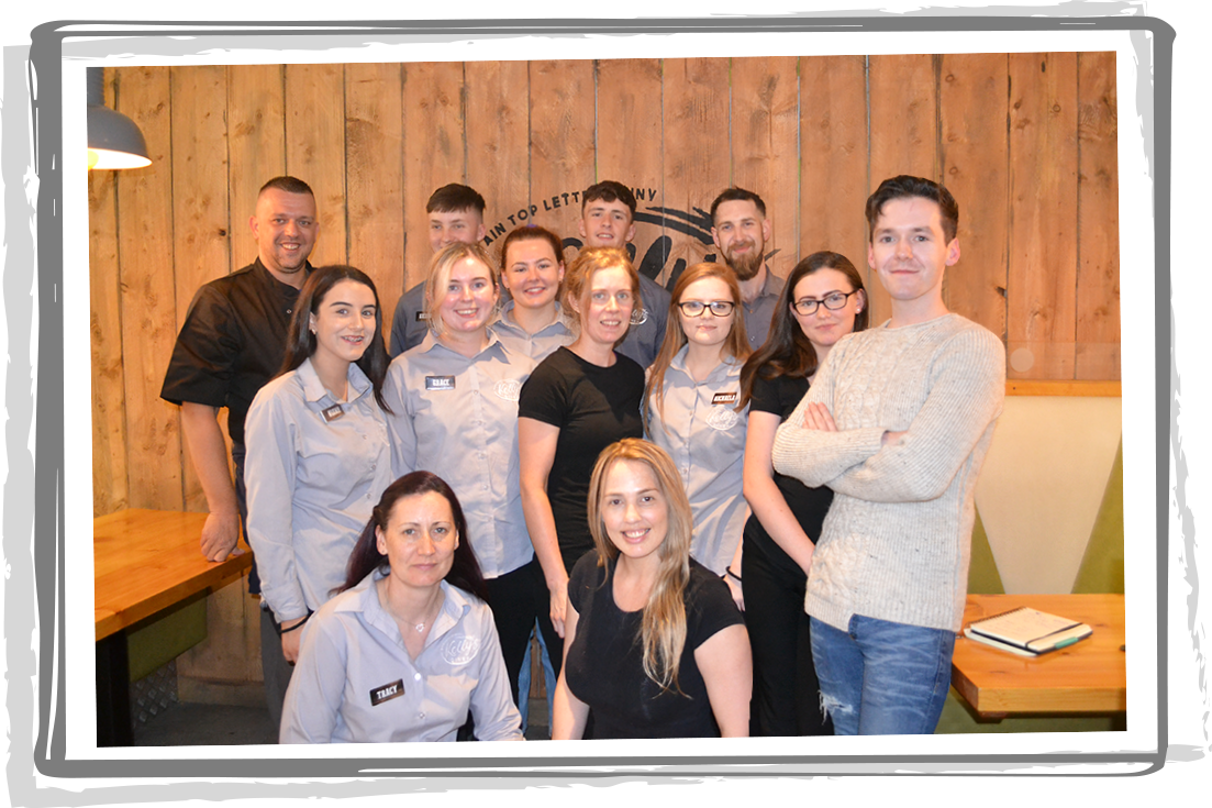 Team Photo - Kelly's Diner, Letterkenny